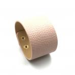 210x42mm rožinės sp. odinės apyrankės ruošinys, aukso sp. užsegimu