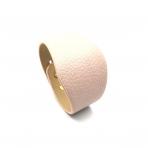 220x50mm rožinės sp. odinės apyrankės ruošinys, aukso sp. užsegimu