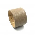 210x42mm šviesiai rudos sp. odinės apyrankės ruošinys, aukso sp. užsegimu