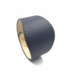 230x52mm tamsiai mėlynos sp. odinės apyrankės ruošinys, aukso sp. užsegimu