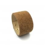 220x42mm rudos sp. pūkuotos odinės apyrankės ruošinys, aukso sp. užsegimu