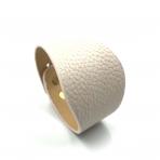 220x50mm švelniai rožinės sp. odinės apyrankės ruošinys, aukso sp. užsegimu