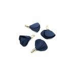 22mm tamsiai mėlynos sp. gėlyčių pakabukai, aukso sp. kepurėle, 4vnt.