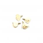 22mm kreminės sp. gėlyčių pakabukai, aukso sp. kepurėle, 4vnt.