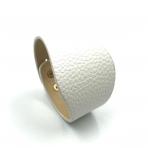 230x52mm baltos sp. odinės apyrankės ruošinys, aukso sp. užsegimu