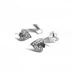 24x16mm sidabro sp. auskarų įvėrimai, 4vnt.
