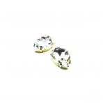 25x18mm crystal sp. kristalai aukso sp. rėmeliuose, 2vnt.