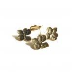 25x23mm aukso sp. auskarų įvėrimai, 4vnt.