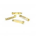 30x6mm aukso sp. sagių užsegimai, 10vnt.