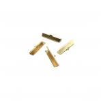 30x8mm aukso sp. užbaigimo detalė juostelei, 10vnt.