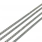 2,65x1,95mm pilkos sp. grandinėlė, 1m