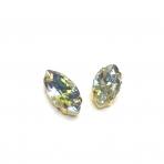 27x13mm crystal AB sp. kristalai aukso sp. rėmeliuose, 2vnt