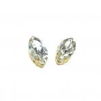 27x13mm crystal sp. kristalai aukso sp. rėmeliuose, 2vnt