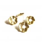 28x28mm aukso sp. auskarų įvėrimai, 4vnt.