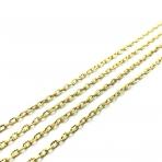 4x2mm aukso sp. grandinėlė, 1m