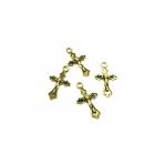 31x18mm aukso sp. pakabukas kryžius, 14vnt.
