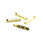 35x6mm aukso sp. sagių užsegimai, 8vnt.