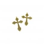 75x52mm aukso sp. pakabukas kryžius, 2vnt.