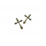 38x25mm žalvario sp. pakabukas kryžius, 8vnt.
