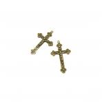 58x36mm žalvario sp. pakabukas kryžius, 2vnt.