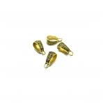 7x18mm aukso sp. pakabukų laikikliai, 16vnt.