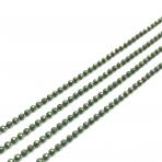 1,5x1,5mm žalios sp. grandinėlė, 1m.