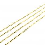 1,5x1,5mm aukso sp. grandinėlė, 1m