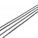 2x2mm juodos sp. grandinėlė, 1m