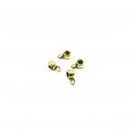 3x7mm aukso sp. pakabukų laikikliai, 130vnt.