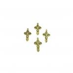 35x20mm aukso sp. pakabukas kryžius, 6vnt.