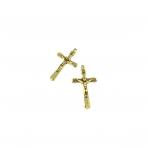 43x25mm aukso sp. pakabukas kryžius, 5vnt.