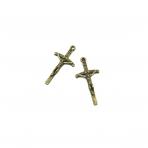 51x25mm žalvario sp. pakabukas kryžius, 3vnt.