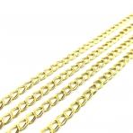 6x5mm aukso sp. grandinėlė, 1m