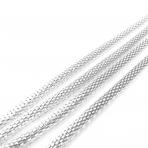 5x5mm sidabro sp. grandinėlė, 1m