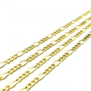 10x5mm aukso sp. grandinėlė, 1m