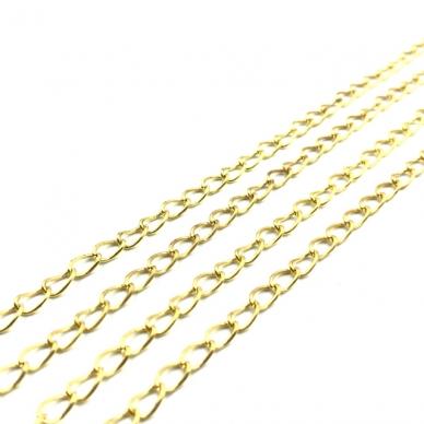 6x3mm aukso sp. grandinėlė, 1m