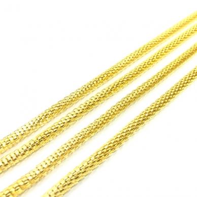 4x4mm aukso sp. grandinėlė, 1m