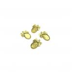 24x18mm aukso sp. rėmelis 14,4x10,1mm kabošonui, 9vnt.