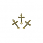 43x24mm žalvario sp. pakabukas kryžius, 7vnt.