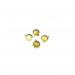 18x15mm aukso sp. rėmelis 12,2mm kabošonui, 11vnt.