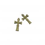 50x29mm žalvario sp. pakabukas kryžius, 3vnt.