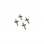 23x13mm žalvario sp. pakabukas kryžius, 17vnt.