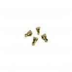 6x10mm aukso sp. pakabukų laikikliai, 30vnt.