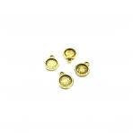 14x11mm aukso sp. rėmelis 8,3mm kabošonui, 20vnt.