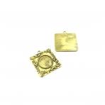 40x26mm aukso sp. rėmelis 19,8mm kabošonui, 2vnt.