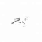 6mm sidabro sp. auskarų įvėrimai, 10vnt.
