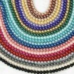 6mm stiklinių perlų 10 juostų mix, blizgūs