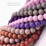 6mm stiklinių perlų 10 juostų mix, pasteliniai-matiniai