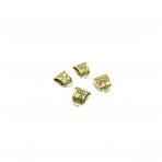 20x23mm aukso sp. pakabukų laikikliai, 4vnt.