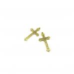 54x30mm aukso sp. pakabukas kryžius, 3vnt.